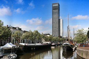 Skyline Leeuwarden in Holland