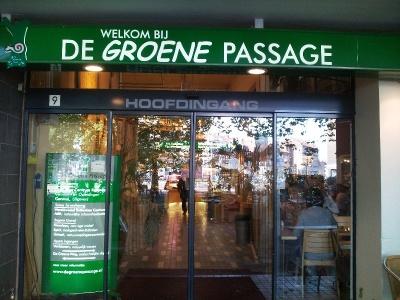 Eingang in De Groene Passage in Rotterdam