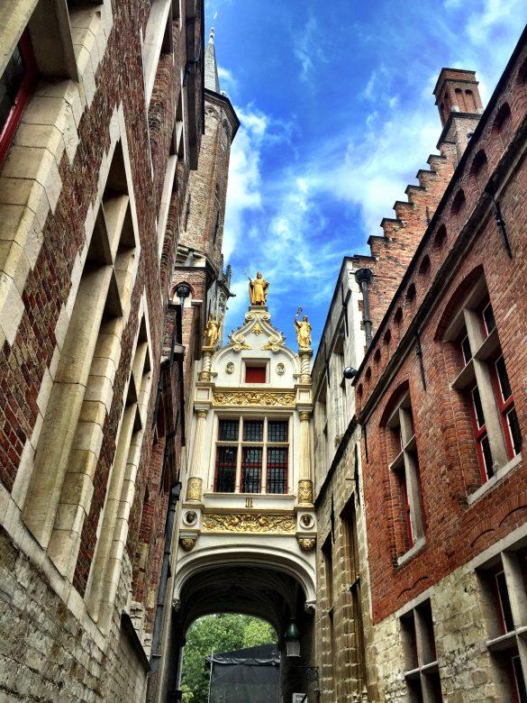 Häuserfront Brügge in Belgien