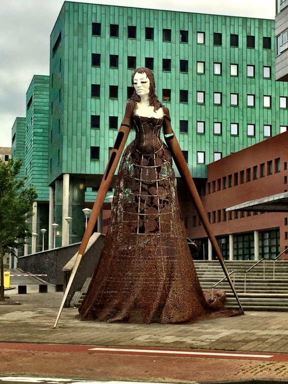 Skulpturvor der Groninger Universität