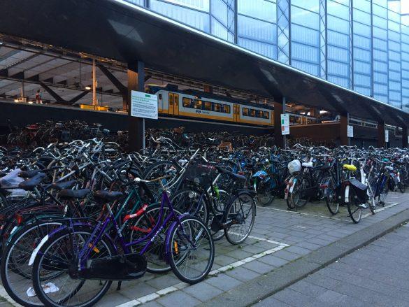 Fahrradparkplatz am Hauptbahnhof in Rotterdam