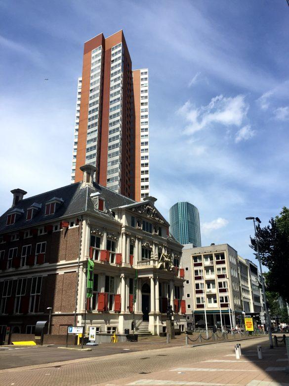 Häuser und Hochhäuser in Rotterdam