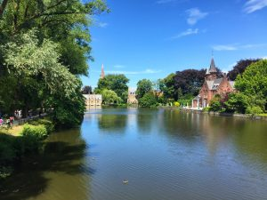 Minnewater Brügge in Belgien
