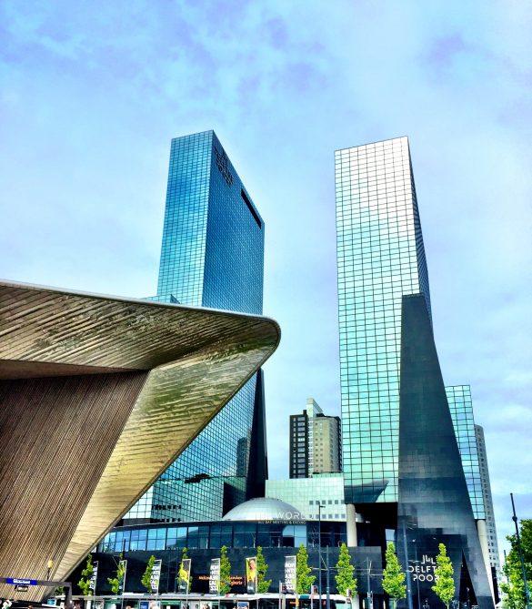 Hochhäuser am Hauptbahnhof Rotterdam