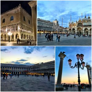 Markusplatz mit Markusdom und Dogenpalast in Venedig