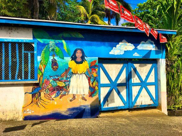 Wandmalerei in Livingston