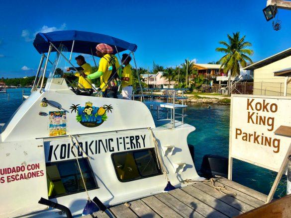 Fähre zum Koko King auf Caye Caulker