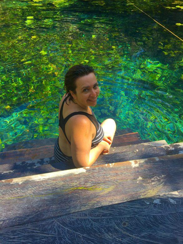 In einer Cenote bei Tulum