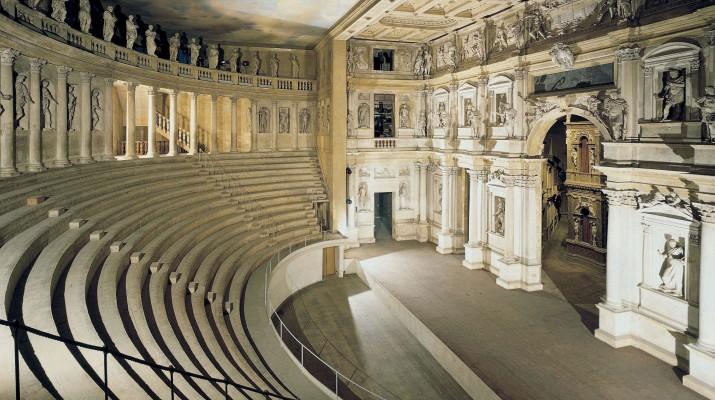 Innenraum des Teatro Olimpico in Vicenza