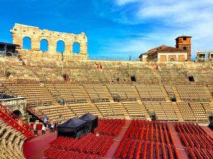 Arena die Verona von innen