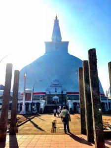 Frontalansicht Stupa Thuparama