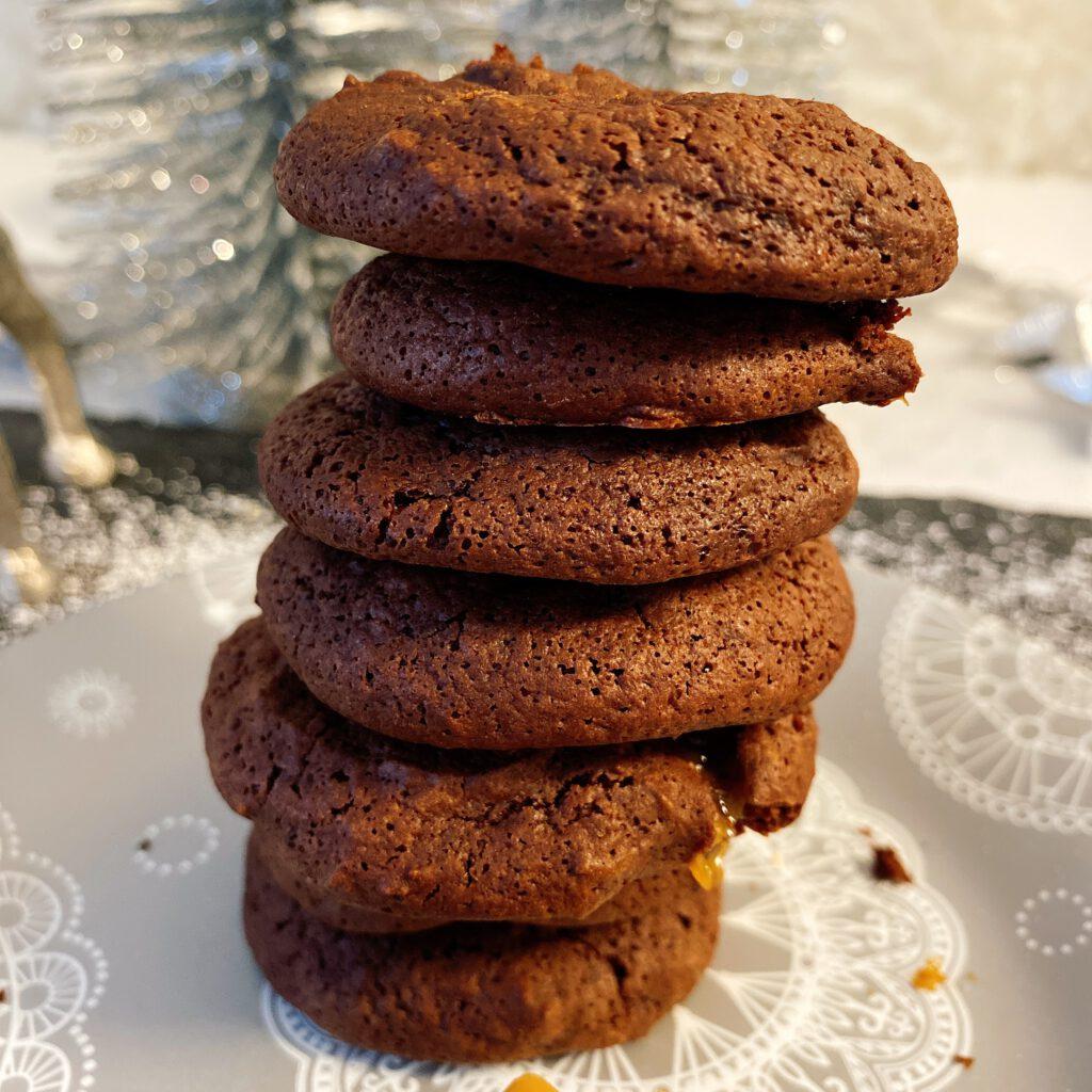 Nahaufnahme Caramel Cookies