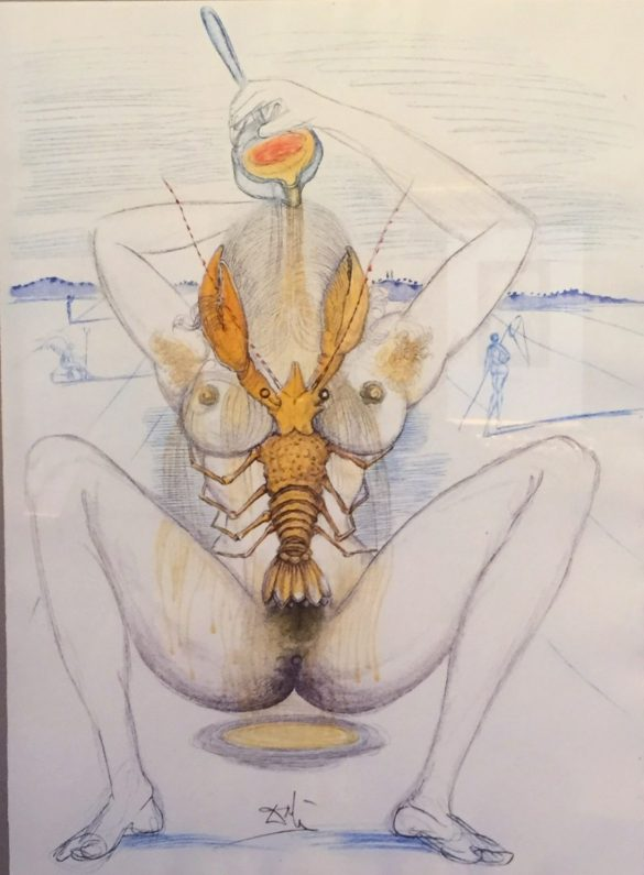 Sexuelles Motiv von Salvador Dali