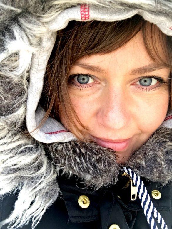 Im Winter in Schweden