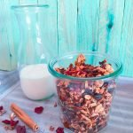 Pistazien-Cranberry-Granola mit Milch