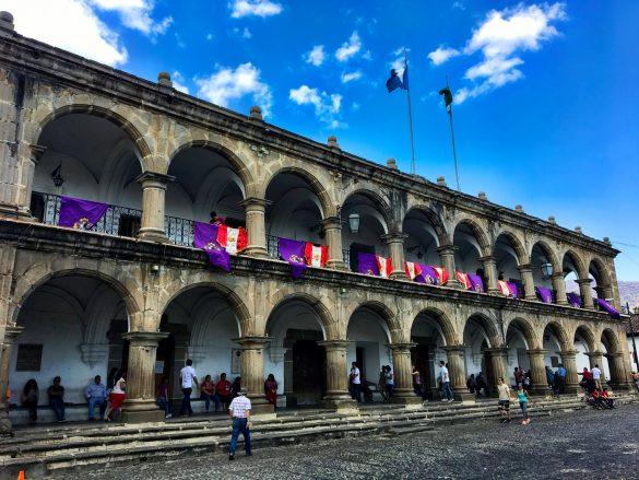Kolonialgebäude in Antigua, Guatemala