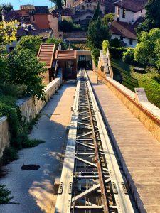 Gleise Seilbahn in Verona