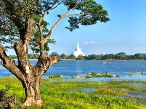 Stausee mit Stupa Thuparama